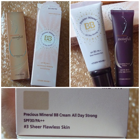 Etude House Precious Mineral BB Cream and Collagen Moistful Primer