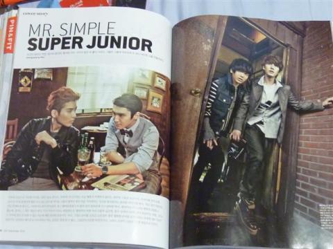 Super Junior on the cover and inside CECI Magazine