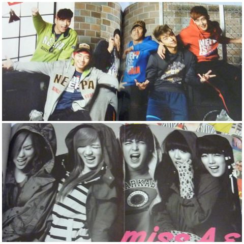 The team 2PM and Nichkhun with Miss A