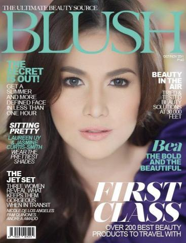 "Bea Alonzo on the cover of ""Blush"" magazine (from her FB fan page)"