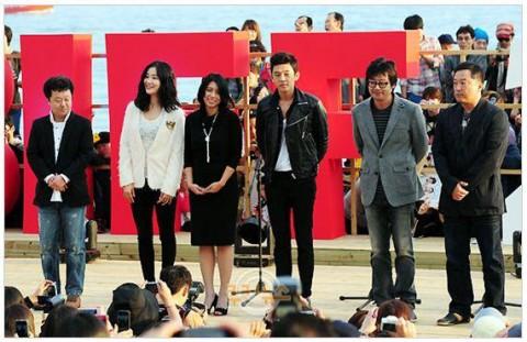 Cast of Wandeugi at the Busan International Film Festival
