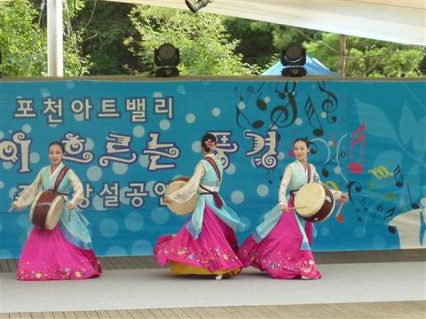 A Korean drum dance