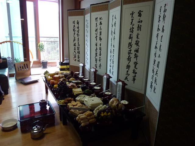 Our Chuseok table - 2010