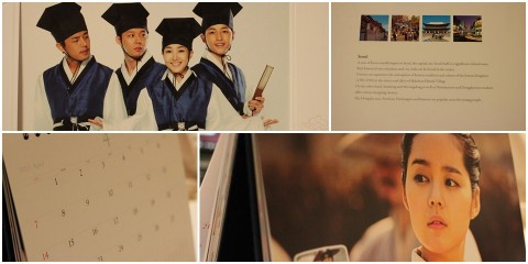 Each month has four pages: two pages for the drama, calendar month and info on Korea.