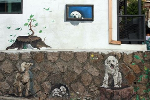 Doggies waiting for their owner