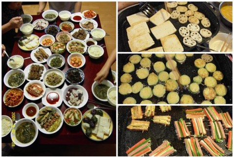 """Dinner on the eve of Chuseok and the """"jeon"""" we prepare."""