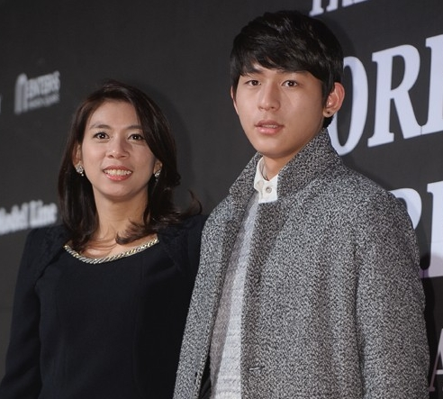 Jasmine Lee and son