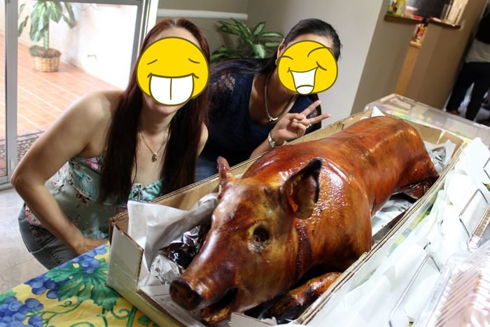 What's a Pinoy party without a lechon?