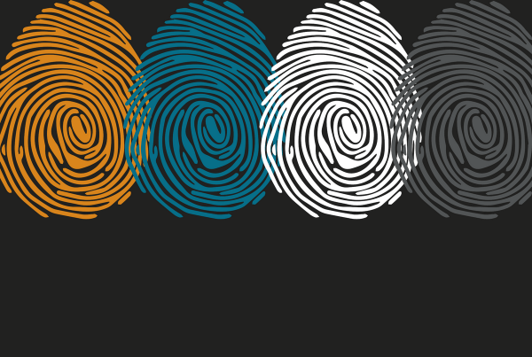 Human fingerprint to represent digital identity