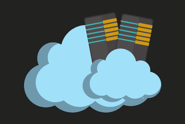graphic of servers inside a cloud to symbolise cloud migration for on-premises infrastructure