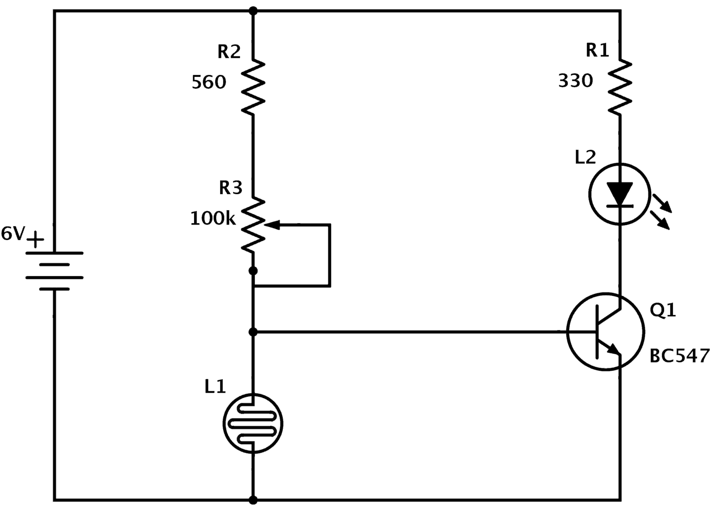 Ldr Circuit Diagram