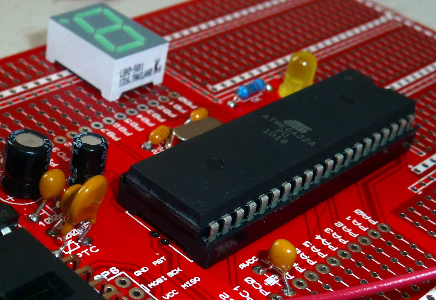 Microcontroller in a circuit