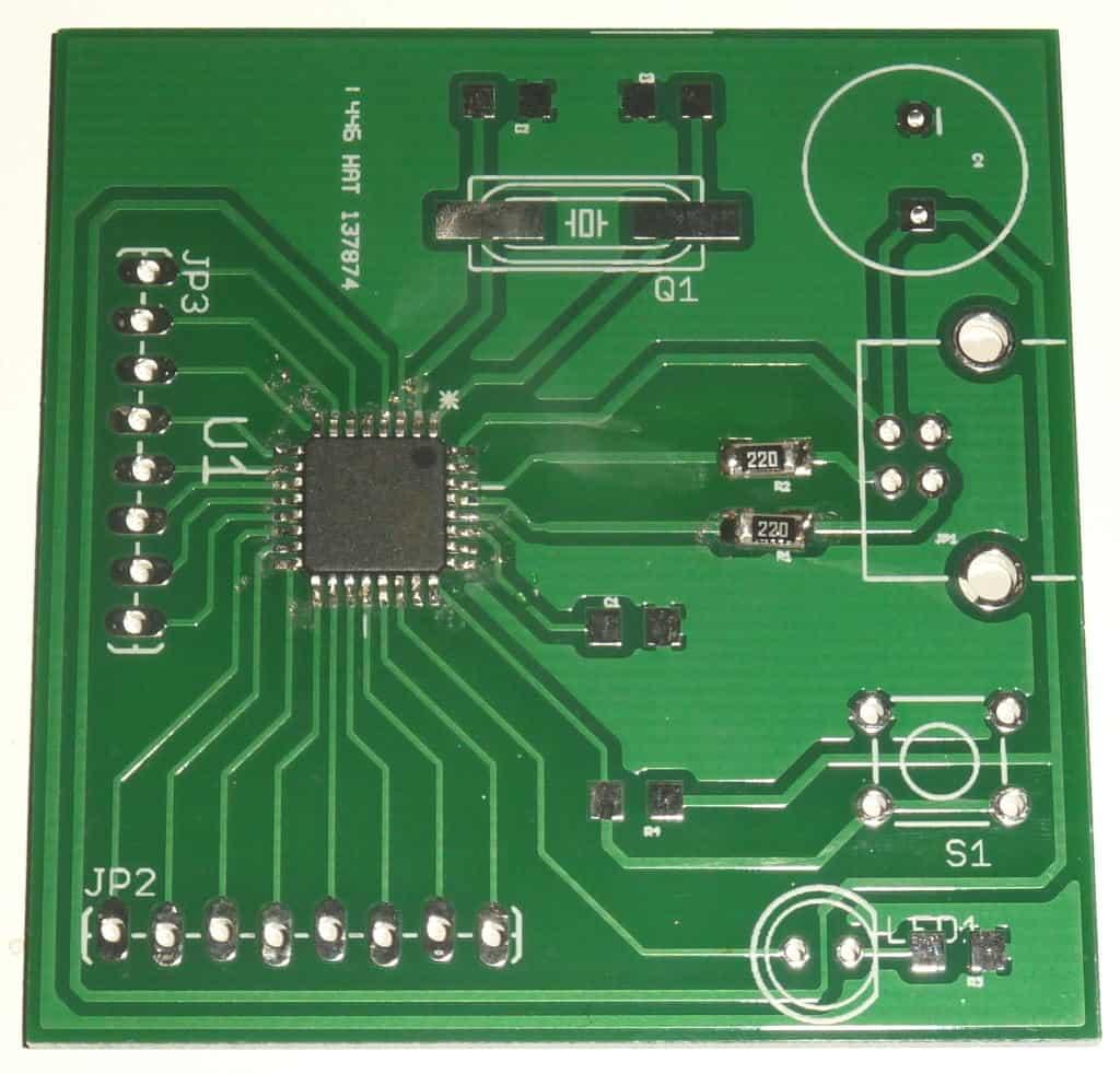 MCU chip soldered