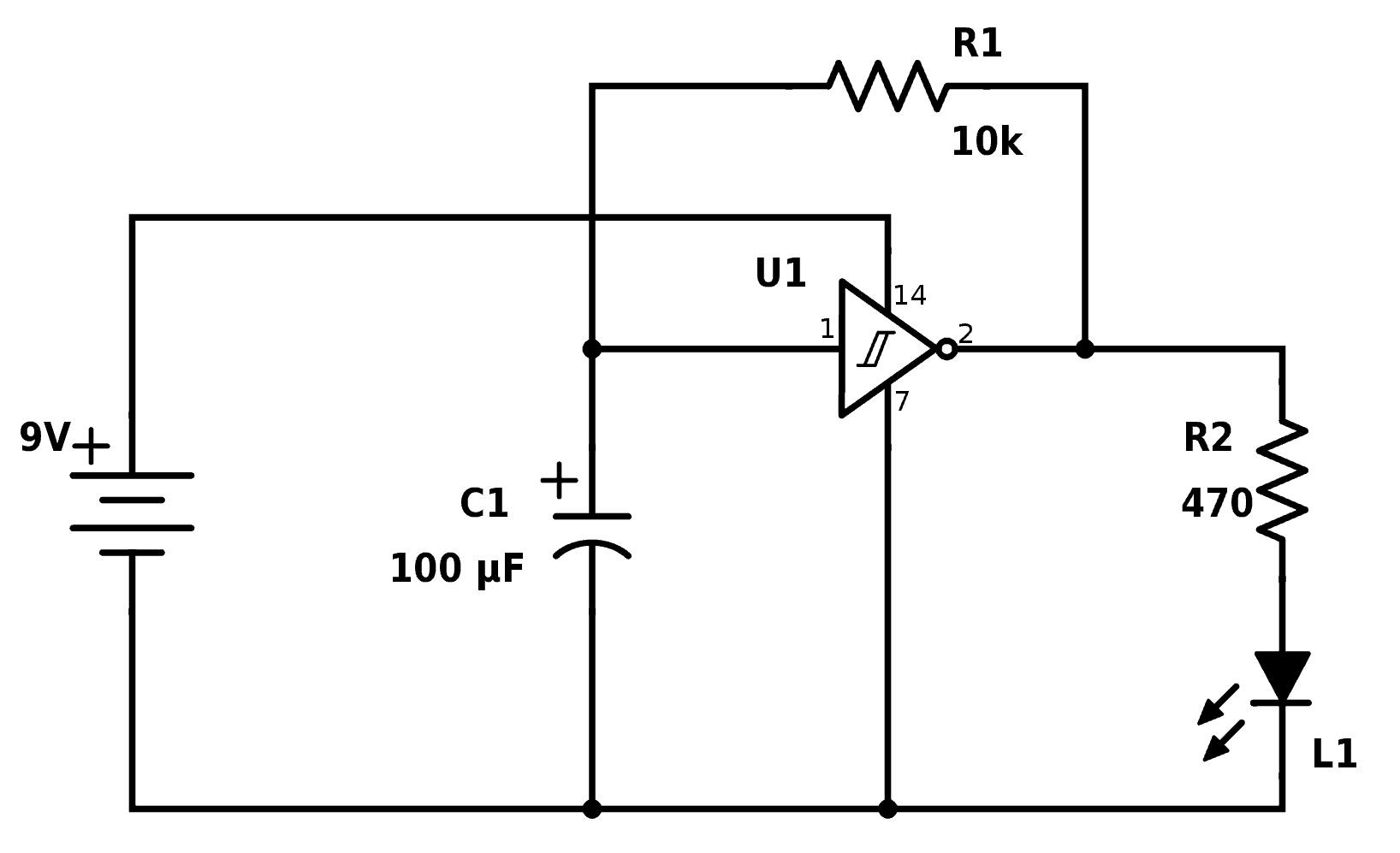 Blinking Led Circuit With Schematics And Explanation