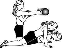 Medicine Ball Exercises: Kneel to Push Up