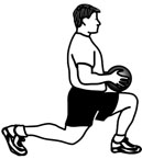 Medicine Ball Exercises: Lunges