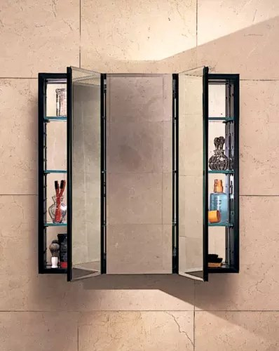 Robern PLM3030W White 30 Triple Door Mirrored Medicine