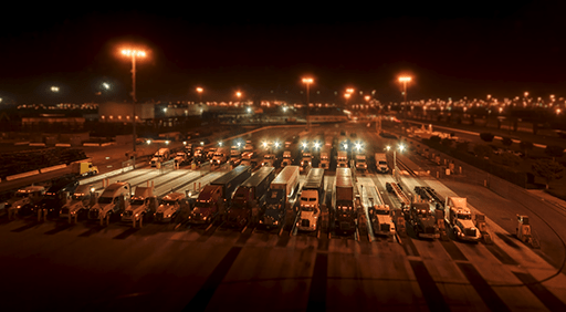 time lapse frame from the Yusen Terminals film