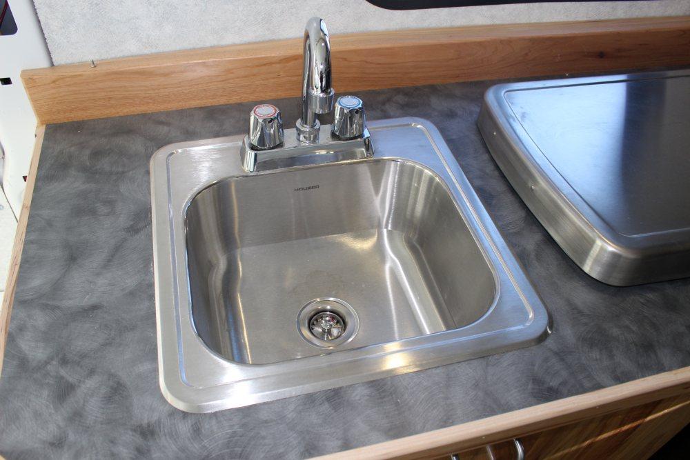 installing galley cabinet sink