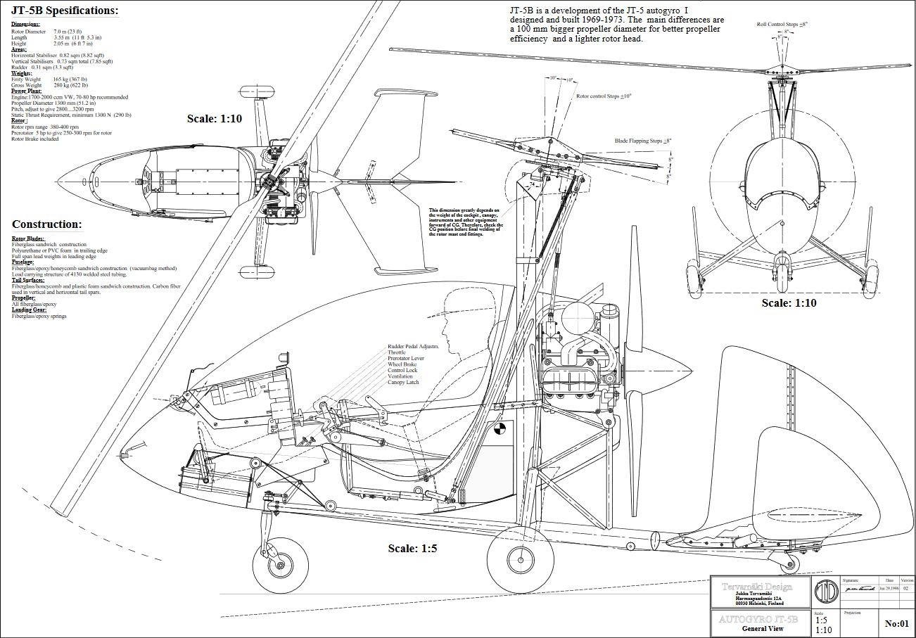 Jukka Tervamaki Design Jt 5 Autogyro
