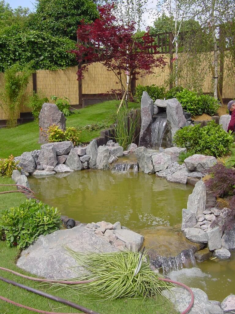 Stream And Pond In Japanese Style Garden Build A