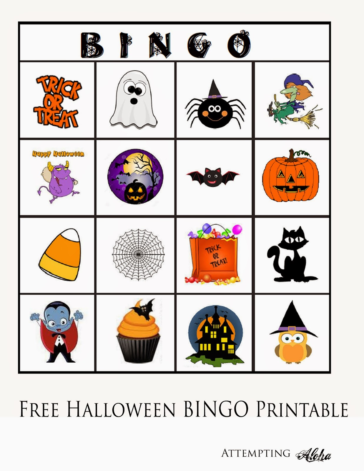 Free Halloween Bingo Printable For Little Kids