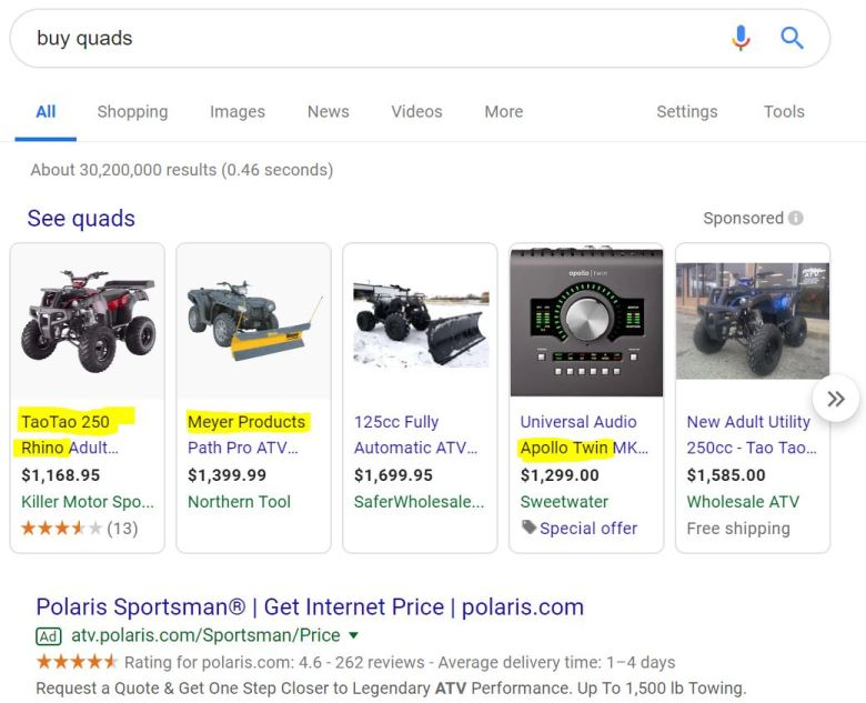 esempio di come trovare fornitori dropshipping da una ricerca su google