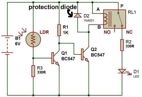 How to use a relay – BuildCircuit.COM Relay Wiring Diagram With Diode on