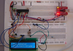 Heat sensor using LM35 and arduino