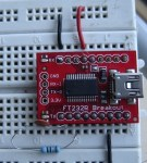 Arduino programmer on breadboard using FT232RL