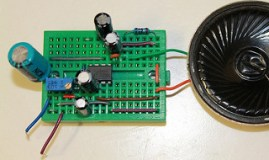 Audio amplifier using LM386