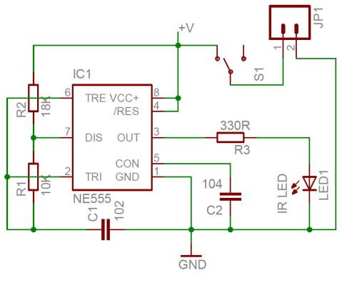 IR transmitter schematic