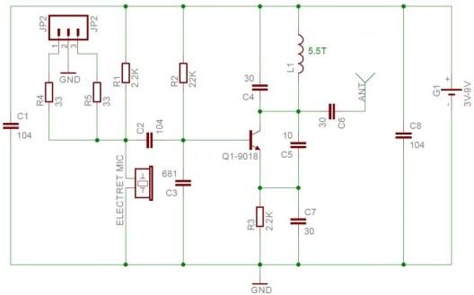 FM transmitter schematic