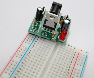 Step 12 Fixing the breadboard power supply on breadboard