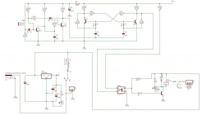 clap switch schematic