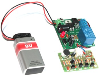 About relay module for clap switch- operate 100-240V appliance