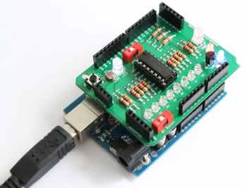 Amarino Shield Experiment 3- LM35 temperature sensor and LED controller