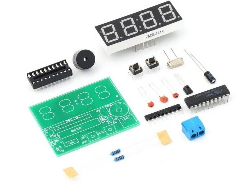 How to assemble DIY digital clock kit ? | BuildCircuit COM