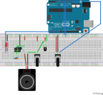 NE555 and Arduino for interactive sound production