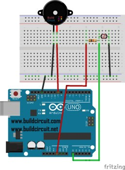 Arduino Project 4- LDR and Buzzer Experiment