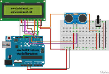 Arduino Project 18- Arduino based ultrasonic distance sensor with display