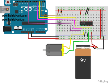Arduino Project 15- Arduino Motor Control With L293D OR SN754410