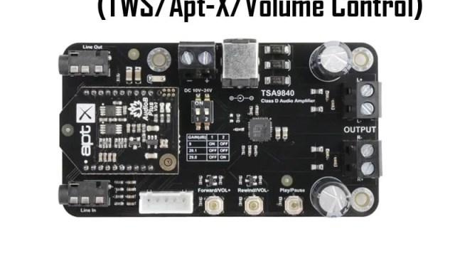 2 X 20W Class D Bluetooth Audio Amplifier Board - TSA9840B (TWS/Apt-X)