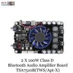 2 X 100W Class D Bluetooth Audio Amplifier Board - TSA7510B(TWS/Apt-X)