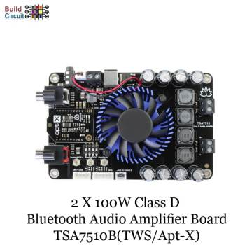 2 X 100W Class D Bluetooth Audio Amplifier Board - TSA7510B(TWS/Apt-X)