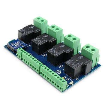 TSIR341 - 4 Channel Outputs- 4 optically Isolated Inputs 30A Bluetooth Relay