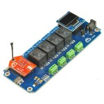 TSTR04 - 4 Channel Outputs 4 Temperature Sensors Wi-Fi Smartphone Relay (Thermostats)