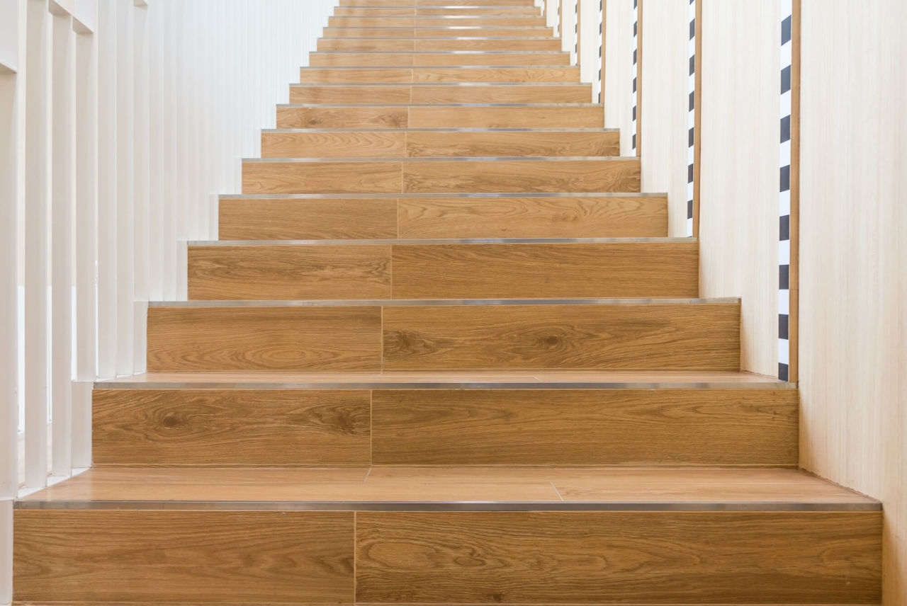 How To Choose A Style Of Stair Tread Nosing Builddirect Blog | Wood Look Vinyl Stair Treads | Ceramic Tile | Shaw Floorte | Laminate Flooring | Roppe | Stair Makeover