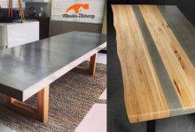 membuat meja dari beton