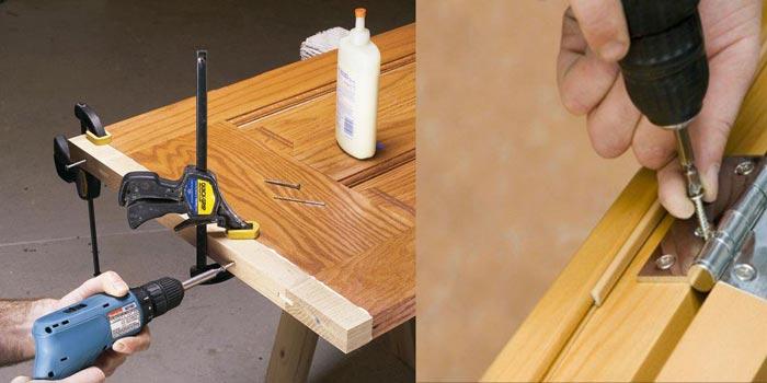 memperpanjang pintu kayu